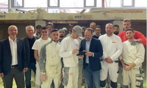 Handwerk wird digital - Marc Biadacz besucht das vom Bundesarbeitsministerium geförderte Kompetenzzentrum der Stuckateure in Rutesheim